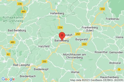 Karte Battenberg (Eder)