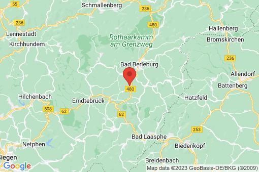 Karte Bad Berleburg Hemschlar