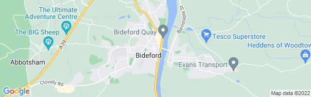 Map Of Bideford