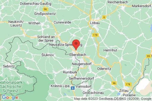 Karte Ebersbach/Sachsen