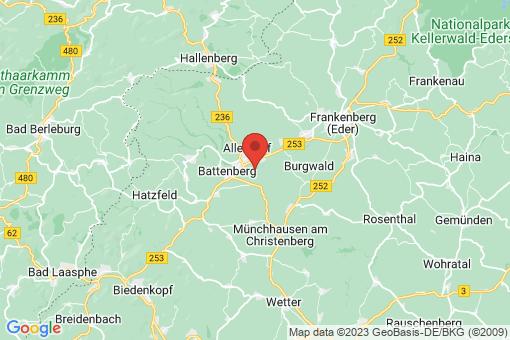 Karte Allendorf (Eder) Rennertehausen