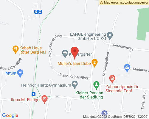 Umgebungskarte für die Mietwohnung Jakob-Kaiser-Ring 52 in Erfurt Roter Berg