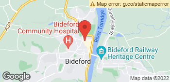 Map of Designers Florist at 14A Bridgeland Street, Bideford, Devon EX39 2QE