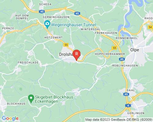 Google Karte von Rohrreinigung Drolshagen