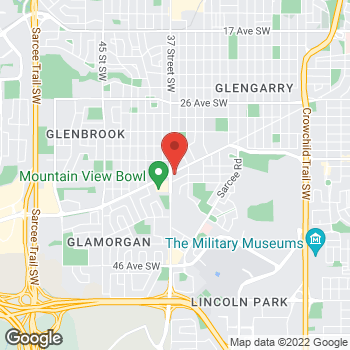 Map of Tim Hortons at 3508 37th St Sw, Calgary, AB T3E 7B1