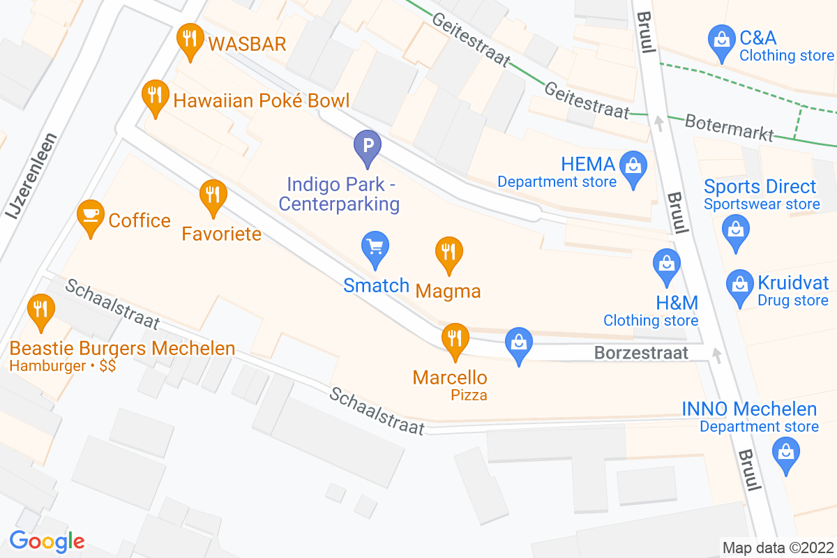 situation du Smatch Mechelen