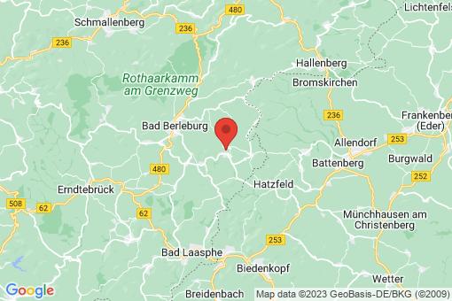Karte Bad Berleburg Schwarzenau