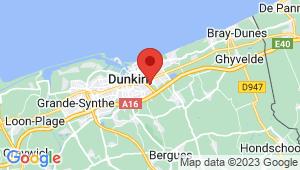 Carte de localisation du centre de contrôle technique Coudekerque - Branche