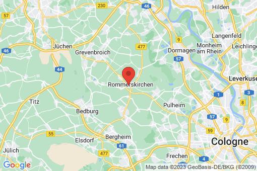 Karte Rommerskirchen