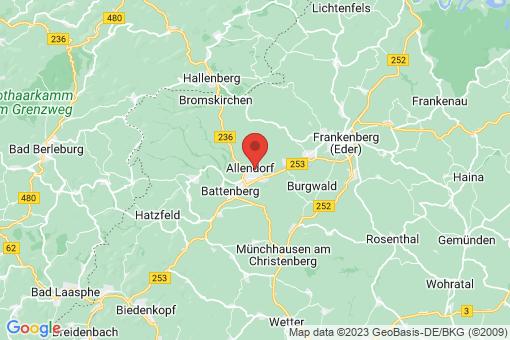 Karte Allendorf (Eder)