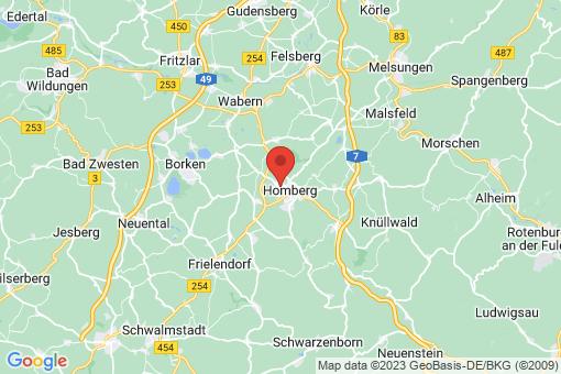 Karte Homberg (Efze)