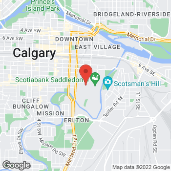 Map of Tim Hortons - Temporarily Closed at 1410 Olympic Way Se, Calgary, AB T2G 2W1