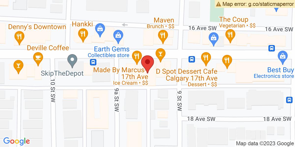 Google Map of 51.0375537,-114.0850012