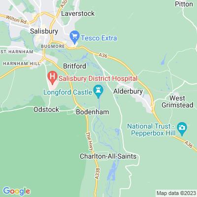Longford Castle Location