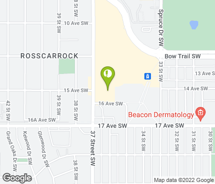 Map of 1610 37 Street SW in Calgary