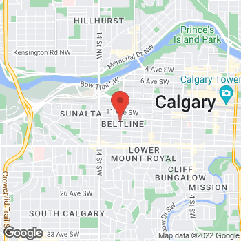 Map of Tim Hortons at 1211 12th Ave Sw, Calgary, AB T3C 3S7