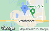 Map of Strathmore, AB