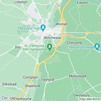 St Catherine's Hill Location