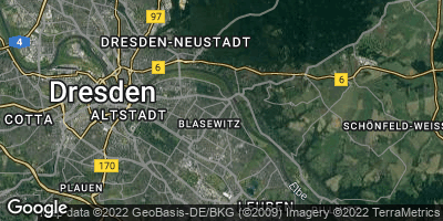 Google Map of Striesen-Ost