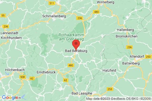 Karte Bad Berleburg