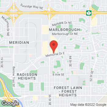 Map of LensCrafters at 3800 Memorial Drive NE, Calgary, AB T2A 2K2