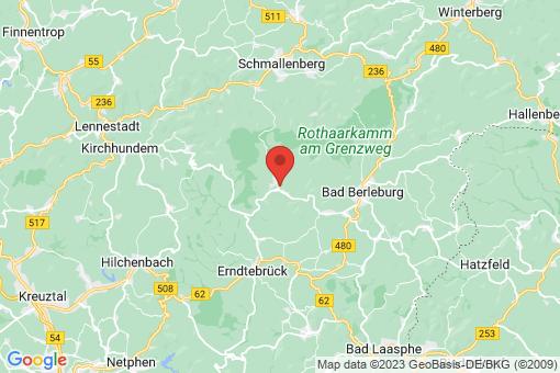 Karte Bad Berleburg Aue