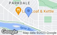 Map of Calgary, AB