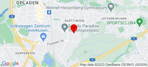 Google Map für Hotel-Pension Schlafpunkt Leverkusen bei Köln