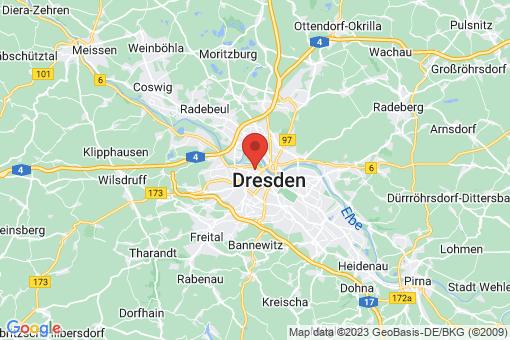 Karte Dresden Friedrichstadt