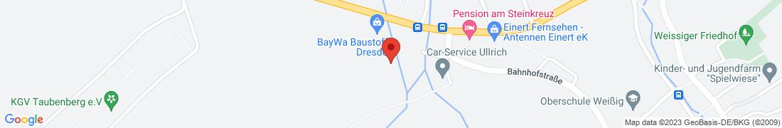BayWa Baustoffe Dresden-Weißig Anfahrt