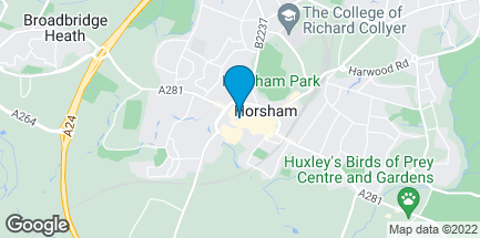 Map of 20 West Street in Horsham