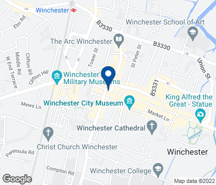 Map of 64 High Street in Winchester