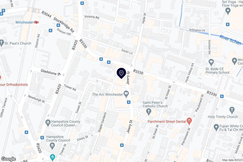 Jewry St, Winchester SO23 8SB, Winchester, SO23 8SB map
