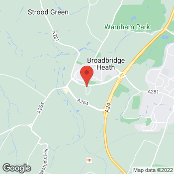 Map of The Co-operative Food Broadbridge Heath, Wickhurst Square at Unit 5, Wickhurst Square Sargent Way, Horsham, West Sussex RH12 3XS