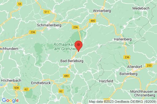 Karte Bad Berleburg Wemlighausen