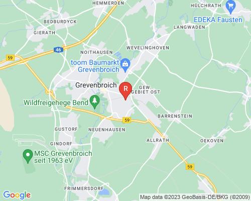 Google Karte von Rohrreinigung Grevenbroich