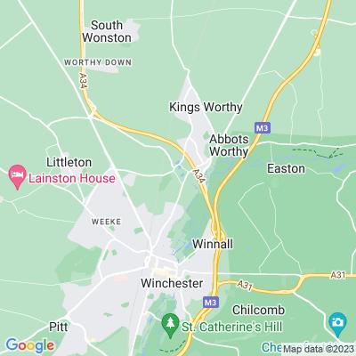 Headbourne Worthy Grange Location
