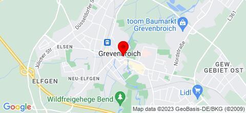 Google Map für Ruhige Zimmer, ausreichend Parkmöglichkeiten