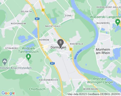 Google Karte von Schlüsseldienst Dormagen