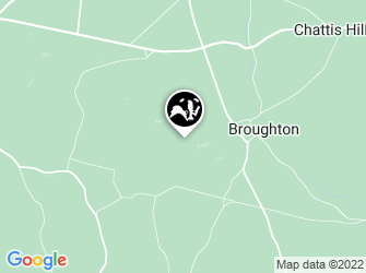 A static map of Broughton Down Nature Reserve