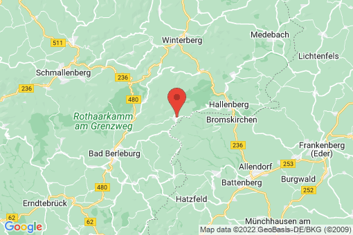 Karte Bad Berleburg Wunderthausen