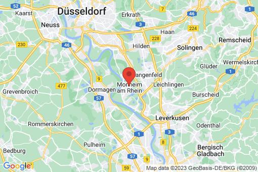 Karte Monheim am Rhein Monheim