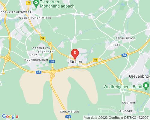 Google Karte von Rohrreinigung Jüchen