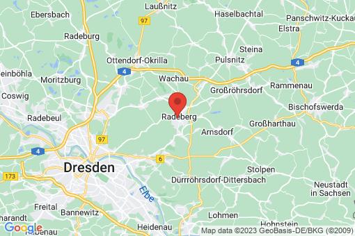 Karte Radeberg