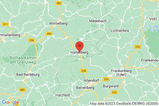Karte Hallenberg