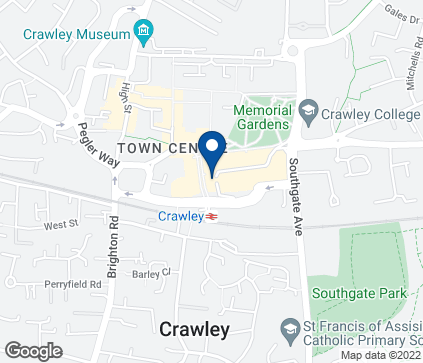Map of 3 County Mall in Crawley