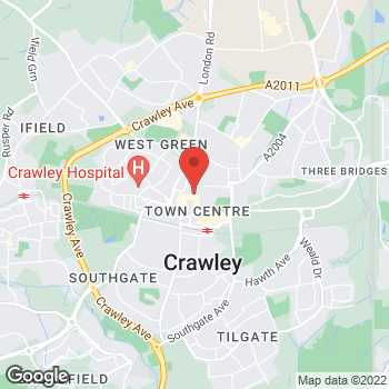 Map of wilko Crawley at 14-26 Broadway, Crawley,  RH10 1DS