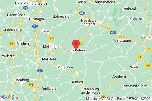 Karte Spangenberg