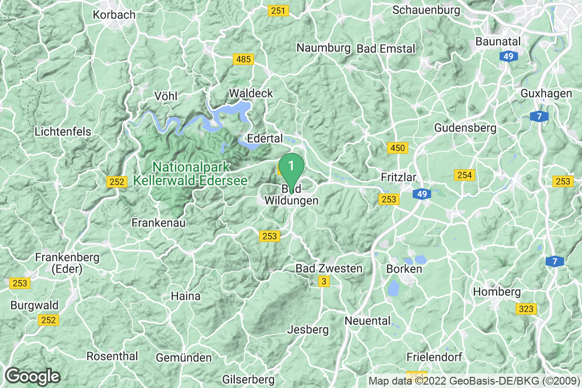 Google Map of Bad Wildungen