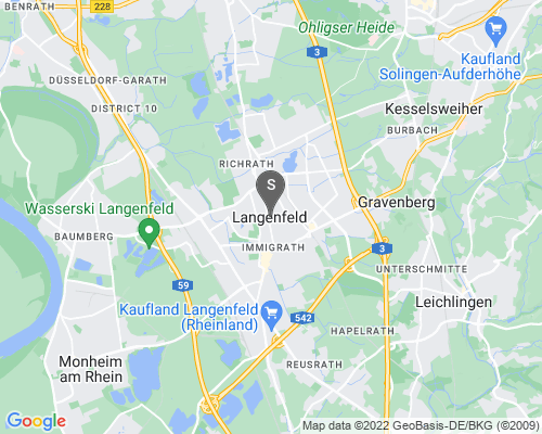 Google Karte von Schlüsseldienst Langenfeld